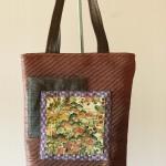 Dahlia bag silk japonese vintage