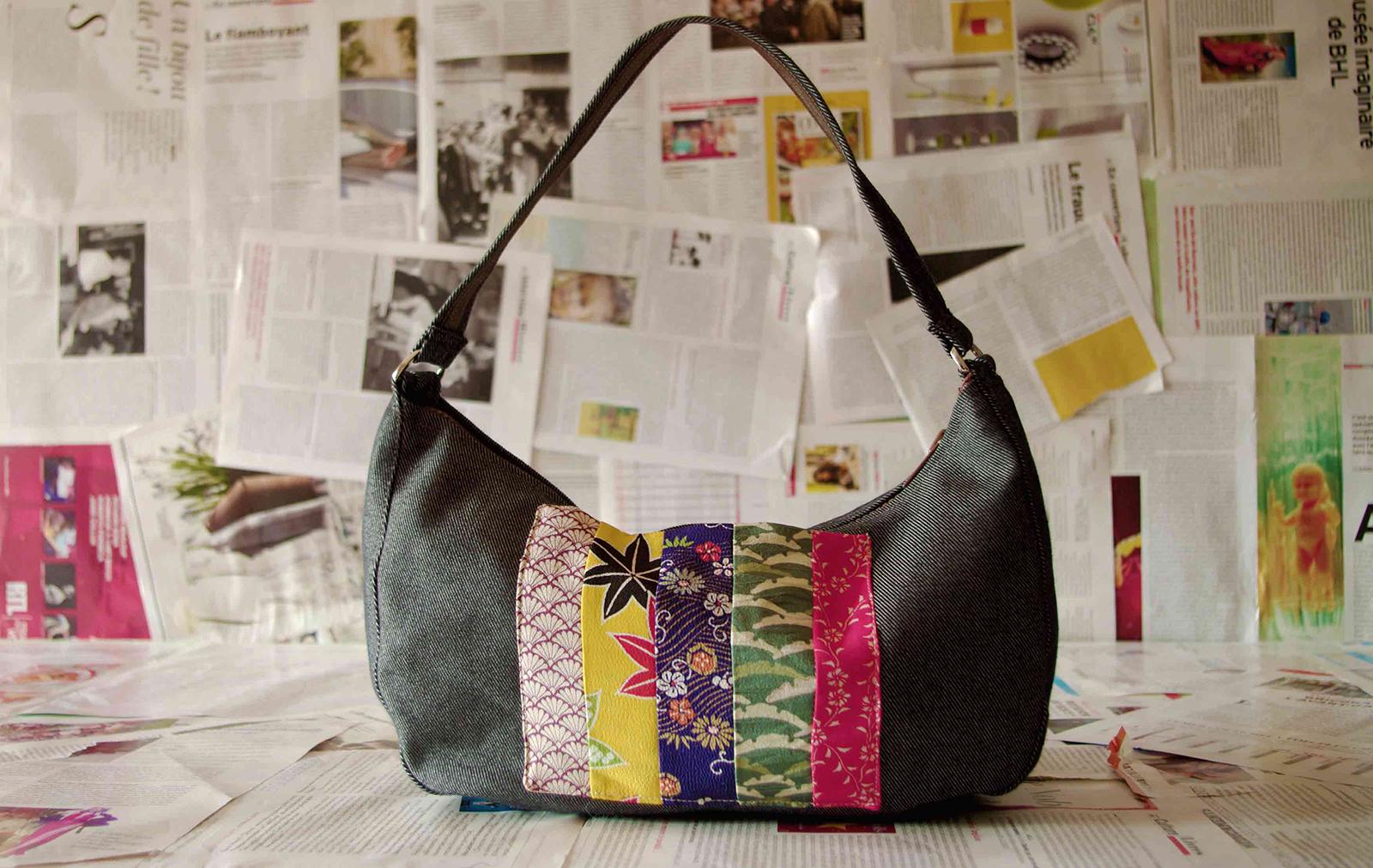 Ines bag silk vintage japonese