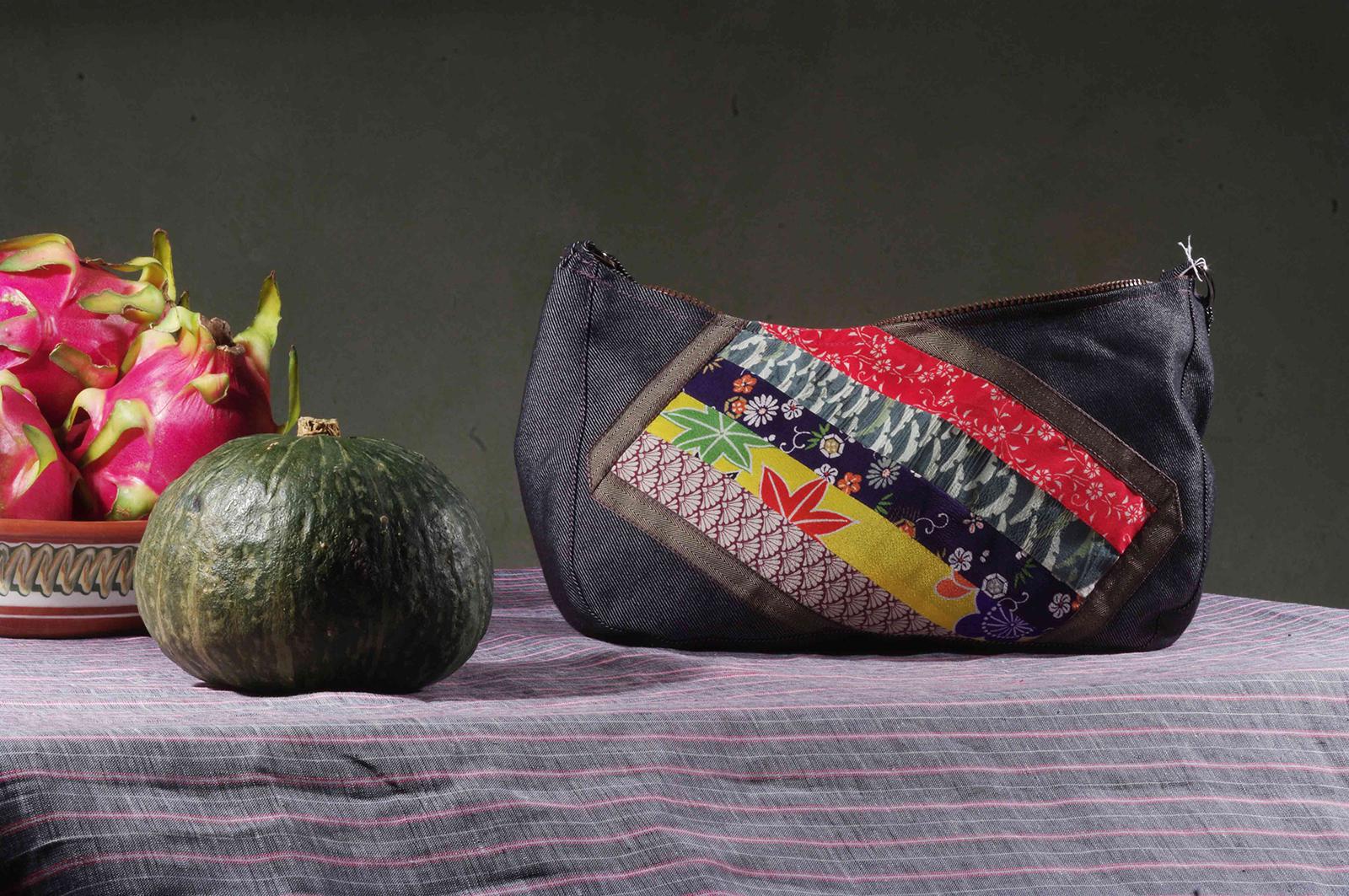 Ines multicolore bag_silk_vintage_japonese