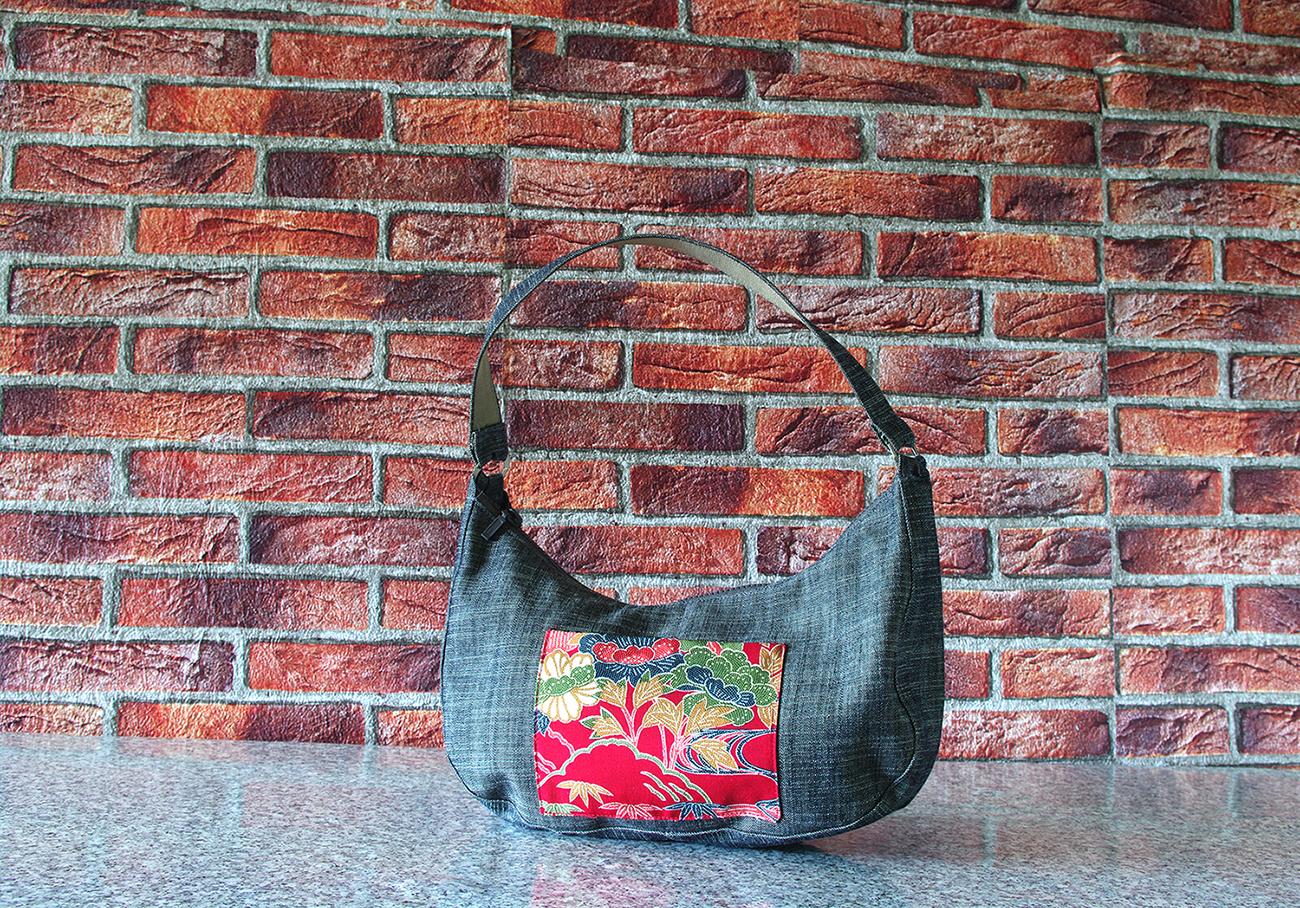Ines red bag_silk_vintage_japonese