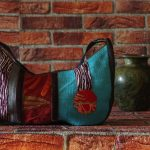 Ines blue bag_silk_vintage_japonese